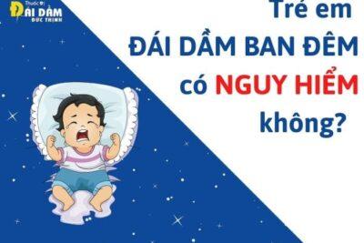 Trẻ đái dầm ban đêm có nguy hiểm không?
