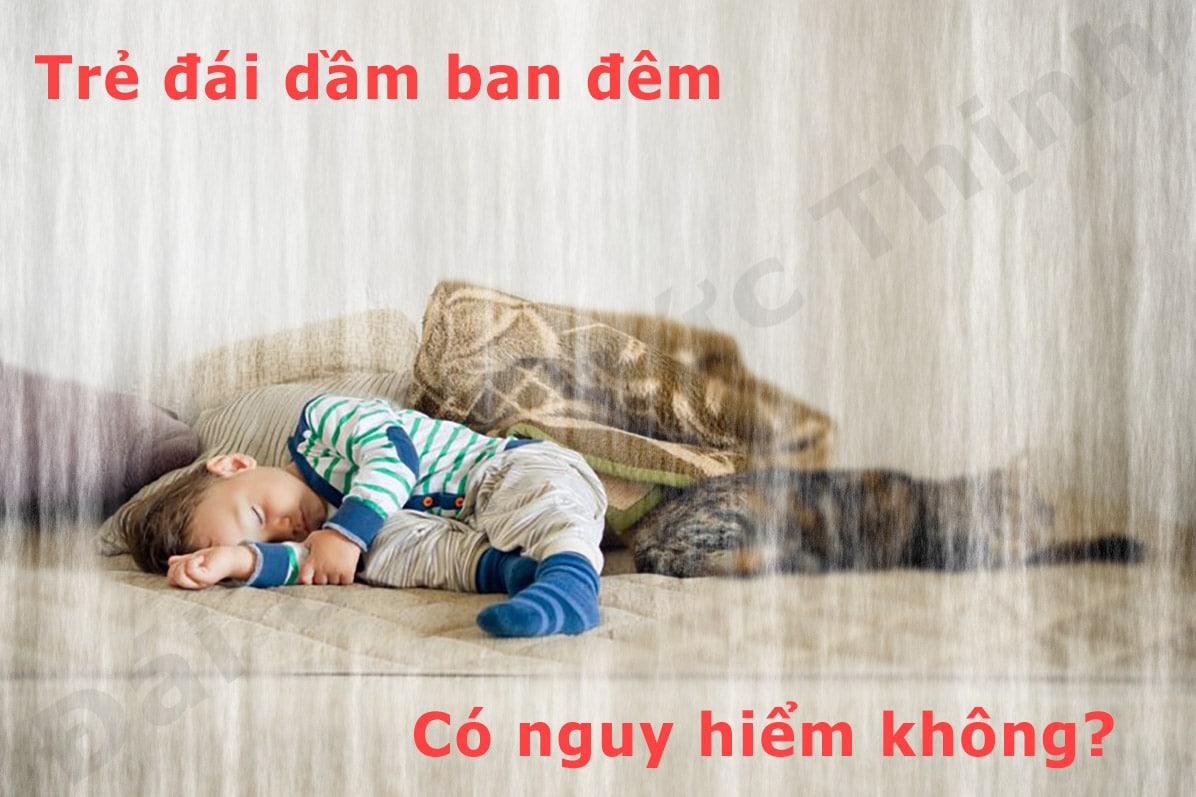 trẻ em đái dầm ban đêm, Trẻ đái dầm ban đêm có nguy hiểm không