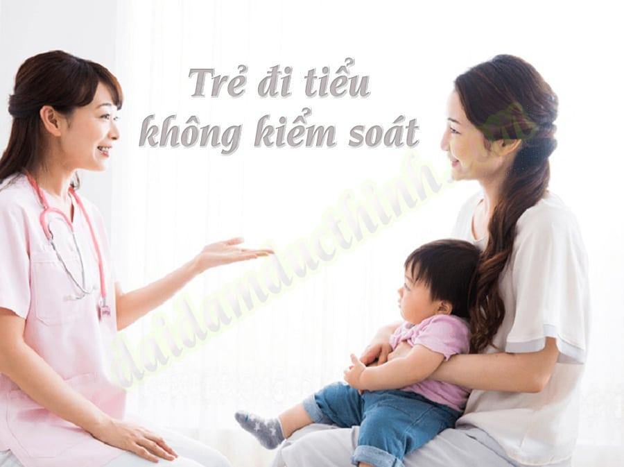 Trẻ đi tiểu không kiểm soát
