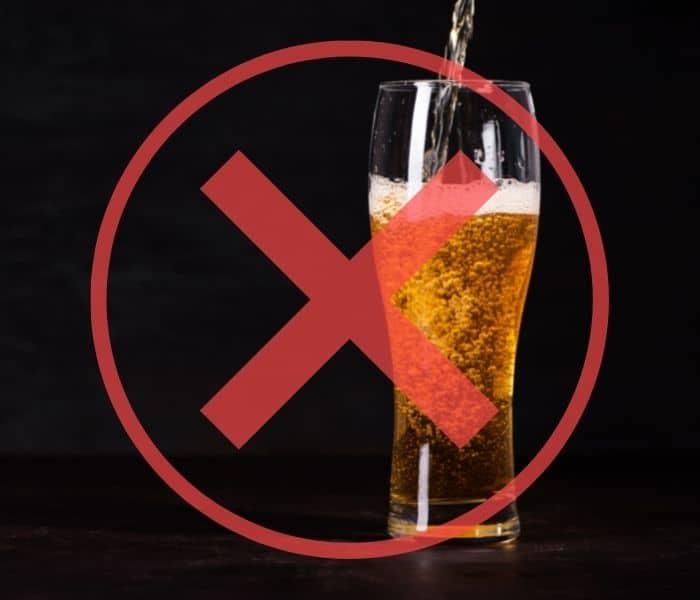 Hạn chế tối đa bia rượu, đồ uống có cồn