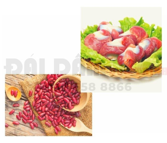 Mề gà kết hợp với đậu đỏ giúp bổ thận, tăng cường chức năng thận, làm tan sỏi, chữa tiểu đêm nhiều lần
