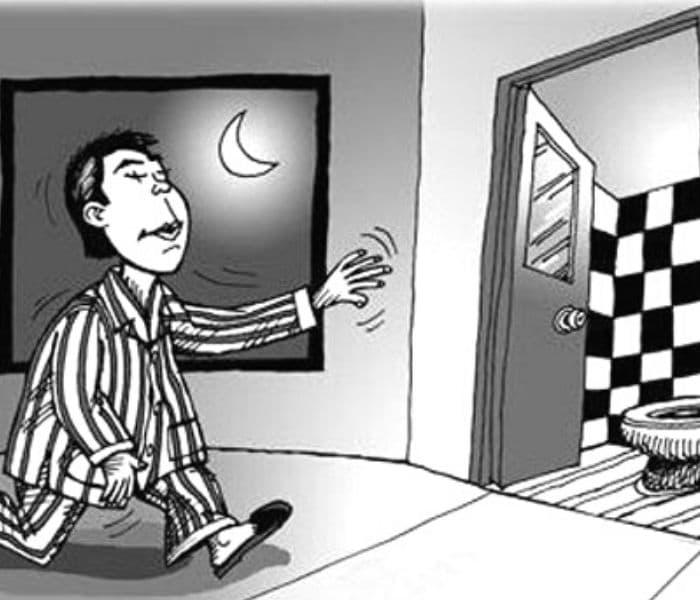 Đi tiểu hơn 2 lần mỗi đêm là bạn đang gặp phải hiện tượng tiểu đêm nhiều lần