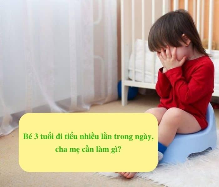 Bé 3 tuổi đi tiểu nhiều lần trong ngày, cha mẹ cần làm gì?