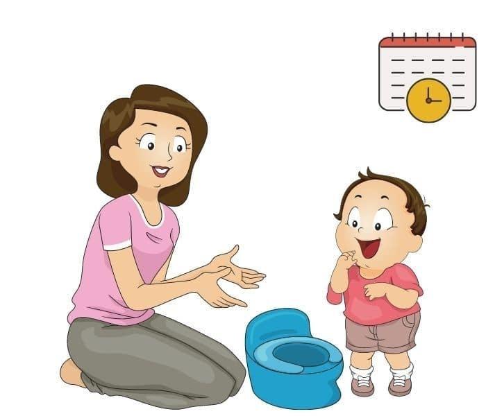 Nhắc nhở trẻ cứ 2 - 3 giờ đi tiểu một lần, đi tiểu trước khi ngủ dù trẻ nói không buồn tiểu