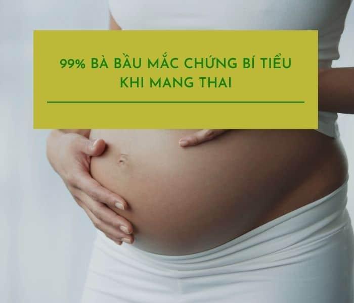 Có tới 99% bà bầu bị bí tiểu khi mang thai