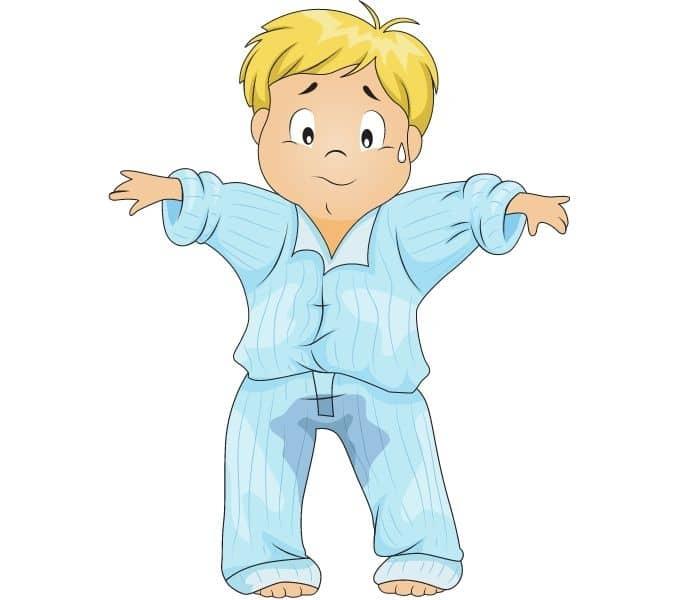 Són tiểu, tiểu không tự chủ là khi trẻ không kiểm soát được hoạt động tiểu tiện