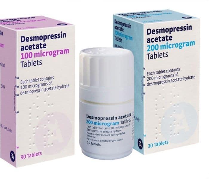 Desmopressin là thuốc kháng hormone lợi tiểu, có tác dụng kiểm soát lượng nước tiểu được sản xuất từ thận